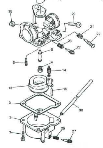 qt50 carb diagram and basic carb adjustments  u2013 yamaha qt50