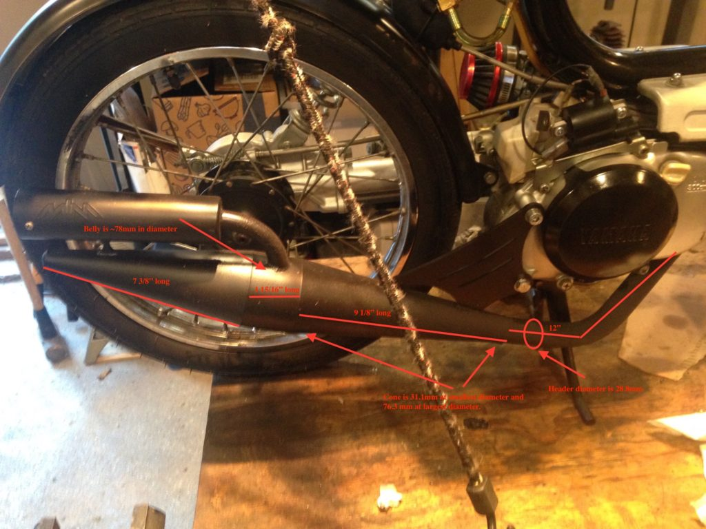 Qt50 Mlm Exhaust Dimensions  U2013 Yamaha Qt50 Luvin And Other Nopeds