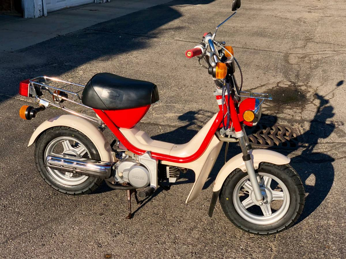 Qt50 Mj50 Craigslist Tracker Yamaha Luvin And Other Nopeds 1982 Suzuki Moped Scooter Champ Pretty Sweet Bike But Outrageously Priced At 1995